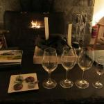 We popped in one night and just had dessert wines and petit-fours!