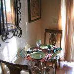 Sedona Suite - dining area near patio