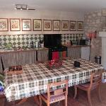 huge, well-equipped kitchen/dining room in our gite
