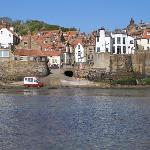 General view of Robin Hoods Bay from the beach (establishment is centre frame)