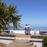 An easy 5 minute walk takes you to the viewing point at Babbacombe Downs