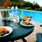 Poolside lunch was amazing