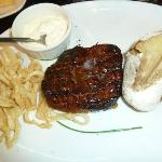 The smallest steak they have!