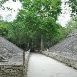 Ball court at Coba Ruins