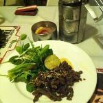 Tiffin Punch and Crispy Beef Salad