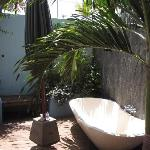The outdoor bathtub