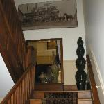 Stairway with art work