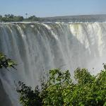Main falls at Victoria Falls National Park