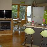 Durrell Suite - kitchen, dining & bunks from lounge