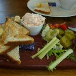 Ah, the salmon pate platter...delicious!!!
