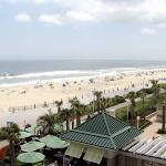 Beach view from our 4th Floor Oceanfront Balcony