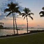 Hotel lagoon and beach