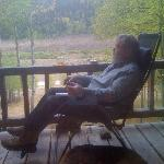 Enjoying the porch
