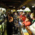The main bar at the Grand Hotel