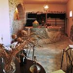 the old olive oil press and wine room-he makes his own from his grapes-very good
