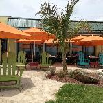 Beachfront dining at Mulligans!