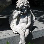 one of many little statues
