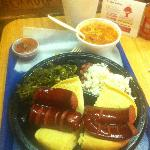 My fave plate - smoked sausage, greens, beans and rice, and jambalaya. Gonna dream about it toni