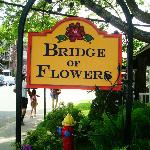The Bridge of Flowers is about 3 blocks away