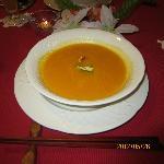 ニンジンスープです。