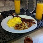 All American breakfast, good