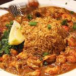 etouffee + dirty rice