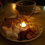 small chocolate fondue - photo doesn't do it justice, though