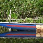 The kind of canoe used to get around the rivers and lagoons around Sani Lodge.