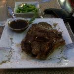 T-Bone Steak with Pepper Sauce