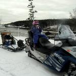 Snowmobiling in Acadia