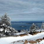 Winter view, top of Cadillac Mountain