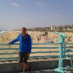 Hinter mir der Strand von MB.