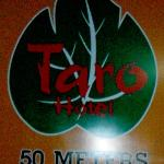 The Taro sign on the road.