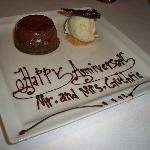 Anniversary dessert at Frankie's