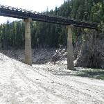 bridge to the north of the campground