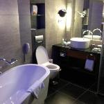 Bathroom in upgraded room on 10th floor