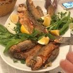 The fish we caught, cooked literally moments after