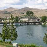 View across the Chelan River to downtown