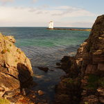 Carraig Fhada Lighthouse at the bottom of the road from Swallows Roost
