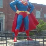 Giant Superman statue in nearby Metropolis, IL