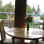 Our kitchen table, looking out on the balcony