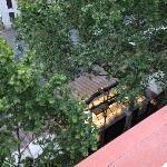 Looking down on Las Ramblas