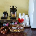Coffee and tea station