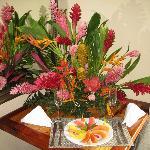 Flowers in suite
