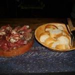 Italian prosciutto and cold cuts plate