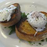 Poached eggs on sourdough