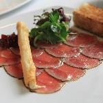 Duck carpaccio at Mandarin Grill KL