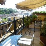 Terrace of the Suite Villa Borghese