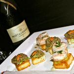 Canapes brought to your room each night