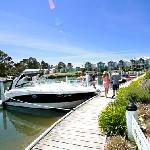Boaties love Captains Cove private jetties